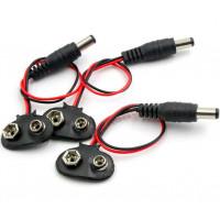 3x 9 voltos akkumulátor tartó szorítóval blokkolja az akkumulátor konzolját